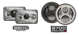 JW Speaker has announced its new Model 8700 Evolution2 and Model 8800 LED projector headlights.